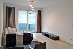 luksusowy salon w ekskluzywnym apartamencie do wynajmu w Szczecinie