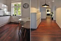 po lewej kuchnia, po prawej przedpokój w ekskluzywnym apartamencie do wynajmu w Szczecinie