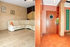 po lewej salon, po prawej przedpokój w luksusowym apartamencie w Legnicy na sprzedaż