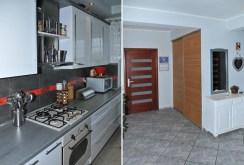 po lewej kuchnia, po prawej przedpokój w luksusowym apartamencie w Szczecinie na sprzedaż
