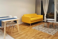 na zdjęciu salon w ekskluzywnym apartamencie w Katowicach na wynajem