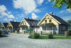 widok na całe osiedle w Bielsku-Białej, gdzie znajduje się luksusowa willa na sprzedaż