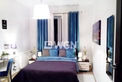 elegancka, stylowa sypialnia w ekskluzywnym apartamencie w Katowicach na wynajem