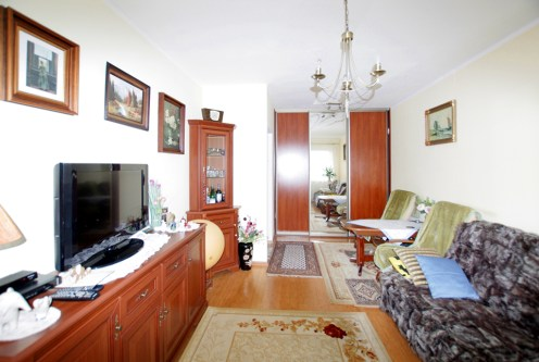 stylowy salon w ekskluzywnym apartamencie do wynajęcia w okolicach Legnicy
