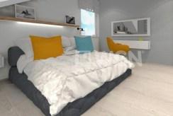zdjęcie prezentuje elegancką sypialnię w luksusowym apartamencie do sprzedaży nad morzem
