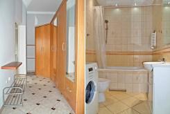 po lewej przedpokój, po prawej łazienka w luksusowym apartamencie w Legnicy na wynajem
