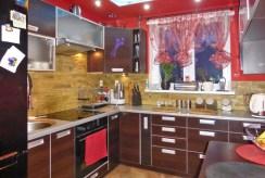 urządzona i umeblowana kuchnia w ekskluzywnym apartamencie w Kwidzynie na wynajem
