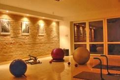 siłownia i pokój ćwiczeń w luksusowej willi do wynajmu w Wiśle
