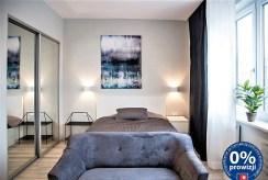 prywatna, ekskluzywna sypialnia w luksusowym apartamencie w Krakowie na wynajem