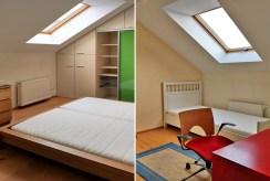 po lewej sypialnia, po prawej pokój dziecka w luksusowym apartamencie w Krakowie na wynajem