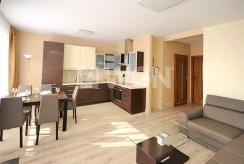 zdjęcie prezentuje luksusowy aneks kuchenny w ekskluzywnym apartamencie w Szczecinie na wynajem