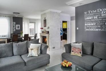 nowoczesny salon w ekskluzywnej willi do sprzedaży w Białymstoku