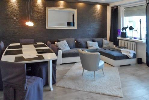 nowoczesny salon w ekskluzywnym apartamencie do sprzedaży w Piotrkowie Trybunalskim