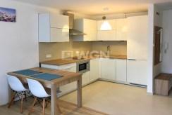 komfortowo urządzona i wyposażona kuchnia w luksusowym apartamencie w Katowicach na wynajem