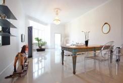 widok na salon w luksusowym apartamencie do wynajmu w Szczecinie
