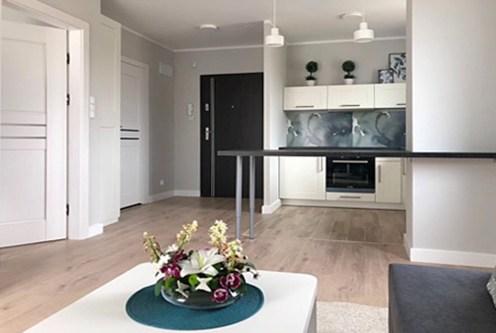 nowoczesne wnętrze ekskluzywnego apartamentu do wynajęcia w okolicach Legnicy