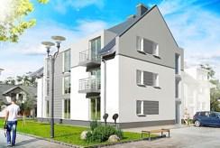 widok na osiedle w okolicach Legnicy, na którym znajduje się luksusowy apartament na wynajem