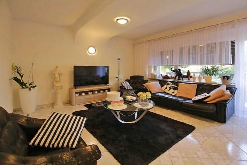 komfortowy salon w ekskluzywnej willi do sprzedaży w Szczecinie