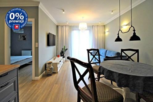 urządzone w wysokim standardzie wnętrze ekskluzywnego apartamentu do wynajęcia w Krakowie