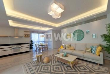 widok na salon w luksusowym apartamencie do sprzedaży w Hiszpanii (Quesada)