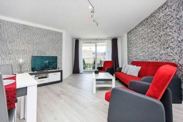 widok na salon w luksusowym apartamencie do sprzedaży w Szczecinie