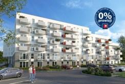 widok na osiedle w Krakowie, gdzie mieści się komfortowy apartament do sprzedaży