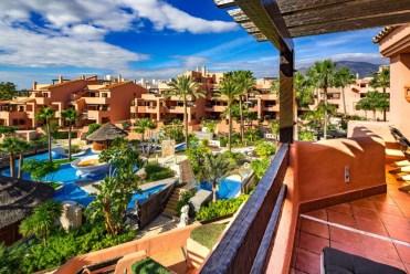 widok z tarasu przy ekskluzywnym apartamencie do sprzedaży Hiszpania (Costa del Sol, Malaga)