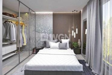 elegancka, prywatna sypialnia w luksusowej willi na Mazurach na sprzedaż