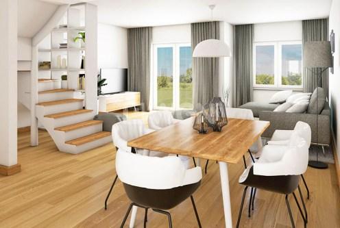 nowoczesny salon w ekskluzywnym apartamencie do sprzedaży w Jeleniej Górze