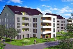 widok na osiedle w okolicach Krakowa, gdzie znajduje się oferowany na sprzedaż luksusowy apartament