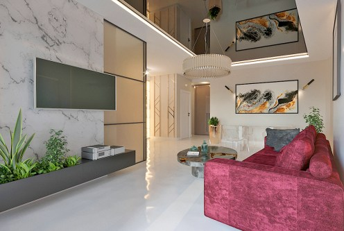 ekskluzywne wnętrze luksusowego apartamentu do sprzedaży Kraków