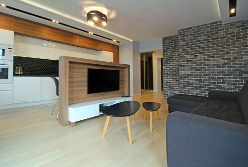 nowoczesny salon w luksusowym apartamencie do wynajęcia Kraków