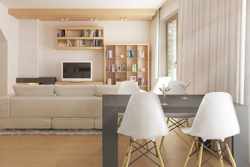 prestiżowe i nowoczesne wnętrze salonu w luksusowej willi do sprzedaży Białystok (okolice)
