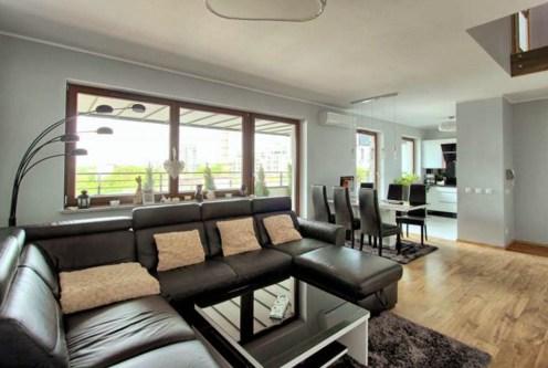 ekskluzywne wnętrze salonu w luksusowym apartamencie do sprzedaży Szczecin