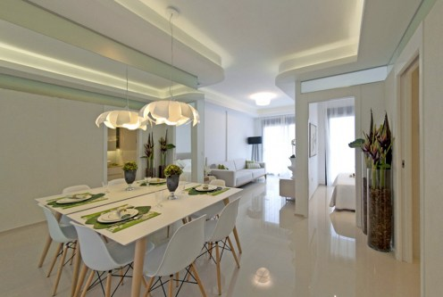 nowoczesne wnętrze ekskluzywnego apartamentu do sprzedaży Hiszpania (Costa Blanca, Orihuela Costa)