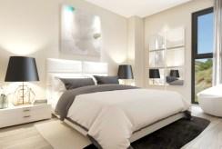 elegancka i zaciszna sypialnia w luksusowym apartamencie do sprzedaży Hiszpania (Fuengirola, Costa del Sol)