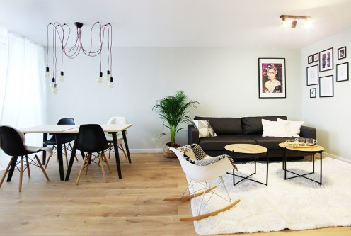 nowoczesny salon i jadalnia w ekskluzywnym apartamencie do sprzedaży Katowice (okolice)