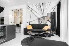 fragment komfortowego salonu w ekskluzywnym apartamencie na sprzedaż Kraków