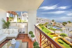 taras widokowy przy luksusowej willi do sprzedaży Hiszpania (Costa del Sol, Kadyks)