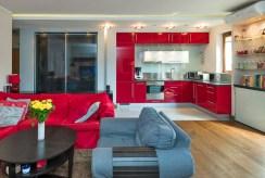 widok na aneks kuchenny w luksusowym apartamencie do sprzedaży Kraków