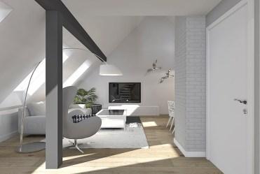 widok na salon w luksusowym apartamencie do sprzedaży Szczecin