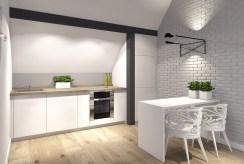 elegancka kuchnia z jadalnią w ekskluzywnym apartamencie do sprzedaży Szczecin