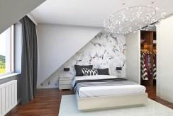 zaciszna, elegancka sypialnia w luksusowej willi na sprzedaż Mazury