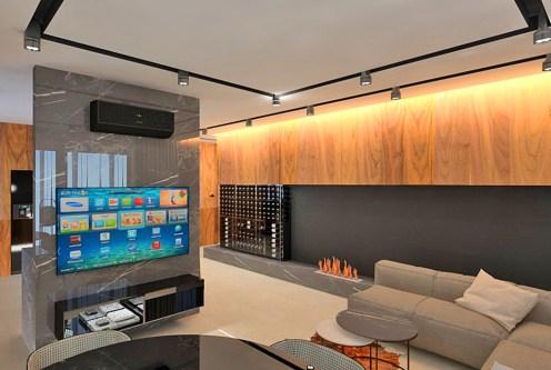nowoczesny, designerski salon w ekskluzywnym apartamencie do sprzedaży Piotrków Trybunalski