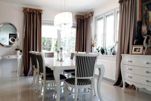 klasyczny i wytworny salon z jadalnią w luksusowej rezydencji do sprzedaży Częstochowa (okolice)
