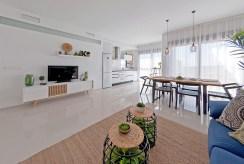 przestronne, elitarne wnętrze salonu luksusowym apartamentu na sprzedaż La Zeni (Hiszpania)