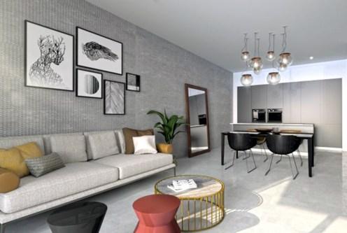 komfortowy salon w ekskluzywnym apartamencie na sprzedaż Hiszpania (Orihuel)