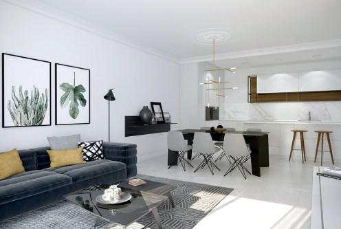 przestronne i eleganckie wnętrze ekskluzywnego apartamentu do sprzedaży Hiszpania (Orihuel)