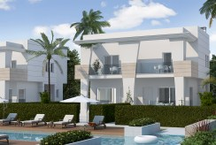 widok od strony basenu na ekskluzywną willę do sprzedaży Hiszpania (Ciudad Quesad)