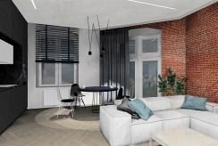 fragment komfortowego salonu w luksusowym apartamencie na sprzedaży Szczecin
